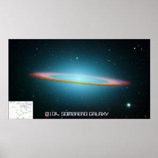 M104 Sombrero GaIaxy - poster