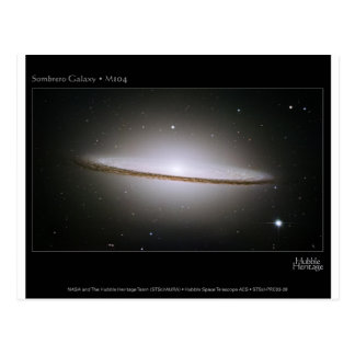 M104, the Sombrero Galaxy (NGC 4594) Postcard