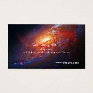 M106 Spiral Galaxy, Canes Venatici Business Card