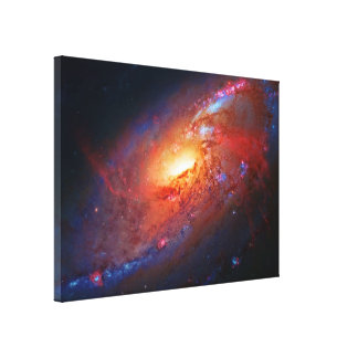 M106 Spiral Galaxy, Canes Venatici, outer space Canvas Print
