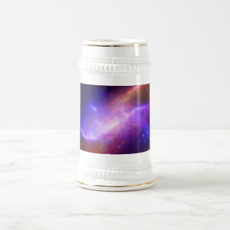 M106 Spiral Galaxy emission NASA Beer Stein