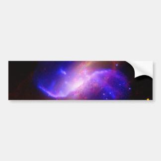 M106 Spiral Galaxy emission NASA Bumper Sticker