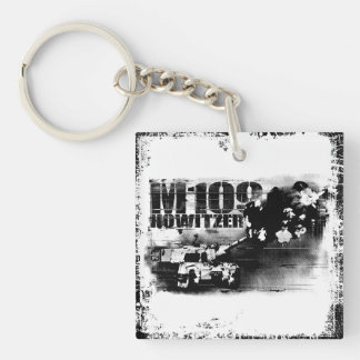 M109 howitzer Square (double-sided) Keychain