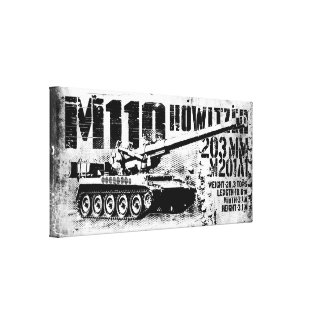 M110 howitzer Wrapped Canvas