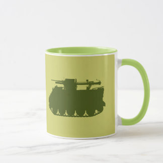 M113 106 Recoilless Rifle Track Silhouette Mug