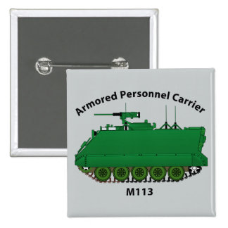 M113-Armored Personnel Carrier APC Pinback Button