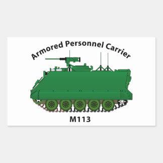 M113-Armored Personnel Carrier APC Rectangular Sticker