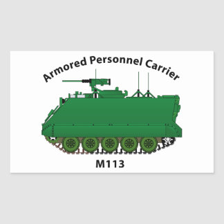M113-Armored Personnel Carrier APC Rectangular Sticker