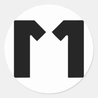 M11 CLASSIC ROUND STICKER
