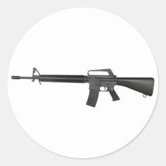 M16 CLASSIC ROUND STICKER