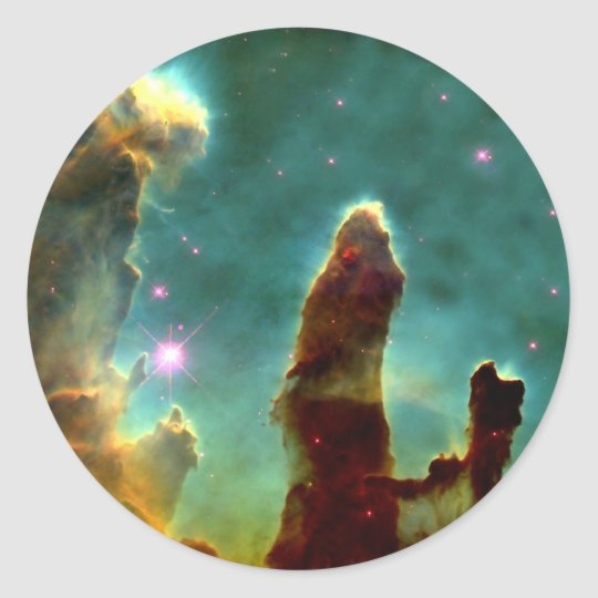 M16 Eagle Nebula or Pillars of Creation Classic Round Sticker