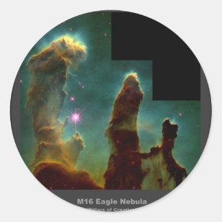 M16 Eagle Nebula 'Pillars of Creation' Classic Round Sticker