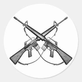 M16 rifle classic round sticker