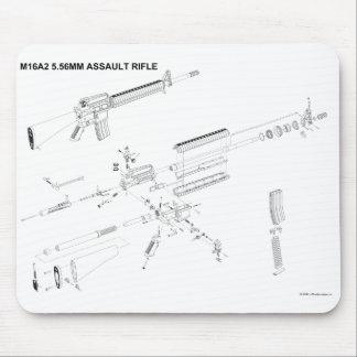 M16A2 Assault Rifle Mouse Pad