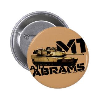 M1 Abrams 2 Inch Round Button