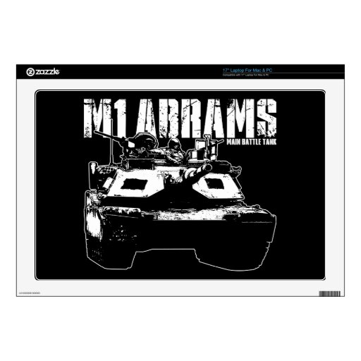 M1 Abrams Decals For Laptops