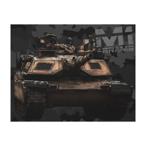 M1 Abrams Gallery Wrapped Canvas