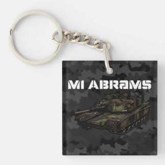 M1 Abrams Double-Sided Square Acrylic Keychain