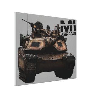 M1 Abrams Lona Envuelta Para Galerias