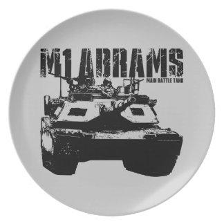 M1 Abrams Plato De Comida