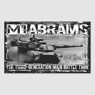 M1 Abrams Rectangle Stickers