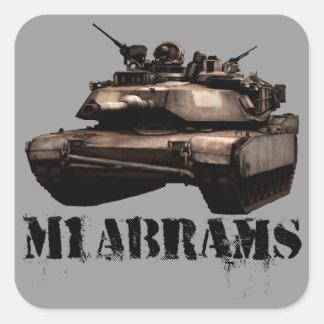 M1 Abrams Square Sticker