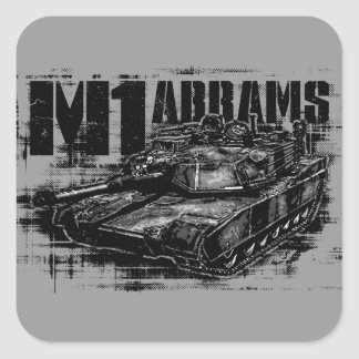 M1 Abrams Square Stickers