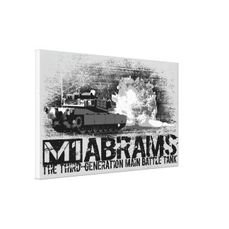 M1 Abrams Stretched Canvas Print