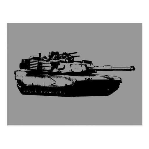 M1 Abrams Tarjeta Postal