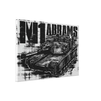 M1 Abrams Wrapped Canvas