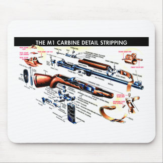 M1 Carbine Stripped Mouse Pad