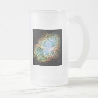 M1-Crab Nebula a Science & Astronomy Gift Idea Frosted Glass Beer Mug