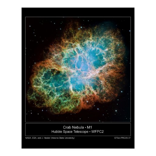 M1 Crab Nebula poster