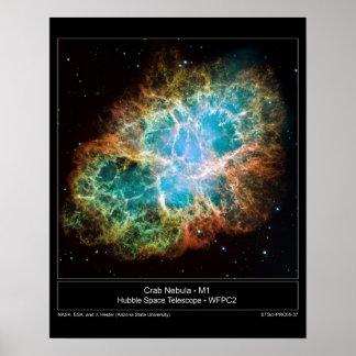 M1 la nebulosa de cangrejo impresiones