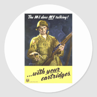 M1 Talks For Me Classic Round Sticker