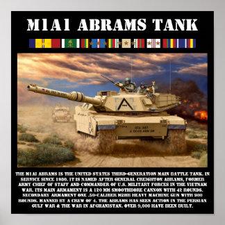M1A1 Abrams Battle Tank Print