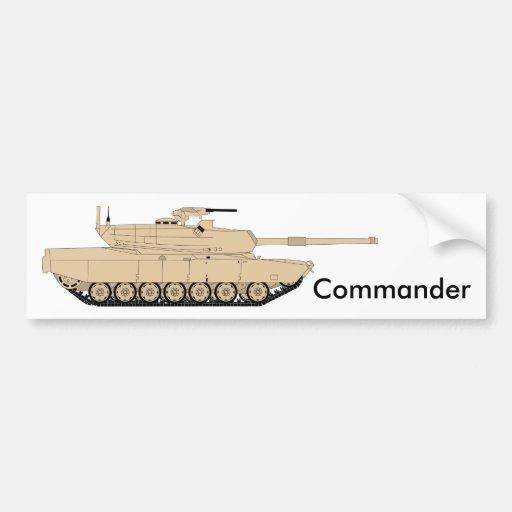 M1A1 Abrams Commander Car Bumper Sticker