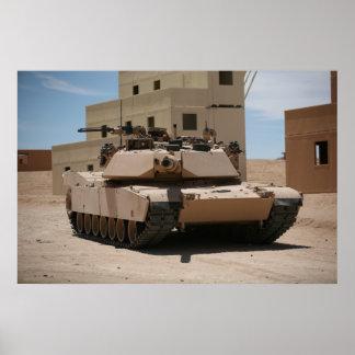M1A1 Abrams Main Battle Tank Poster