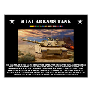 M1A1 Abrams Tank Poster