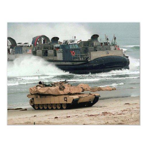 M1A1 & LCAC 4.25X5.5 PAPER INVITATION CARD