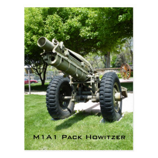 M1A1 Pack Howitzer Postcard