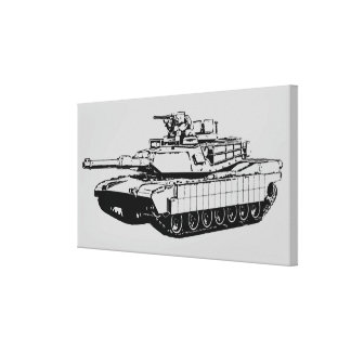 M1A2 Abrams Canvas Print