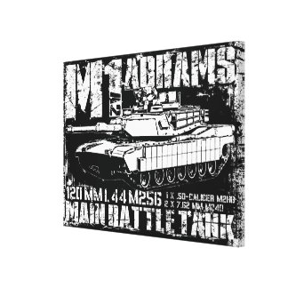 M1A2 Abrams Impresion En Lona