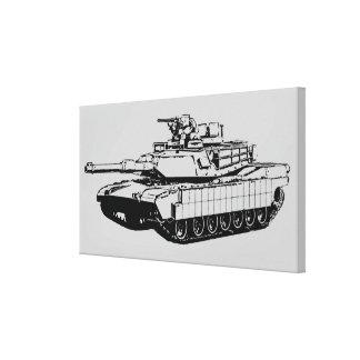M1A2 Abrams Impresión En Lona Estirada