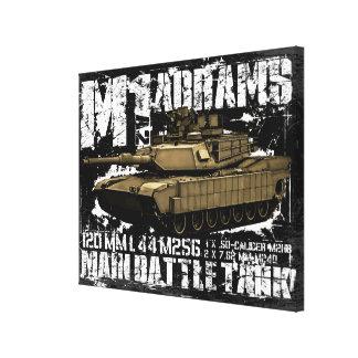 M1A2 Abrams Impresiones En Lienzo Estiradas