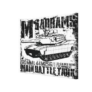 M1A2 Abrams Lienzo Envuelto Para Galerías