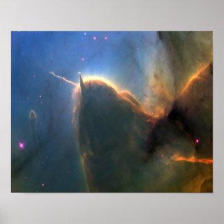 M20 Trifid Nebula in Space NASA Poster