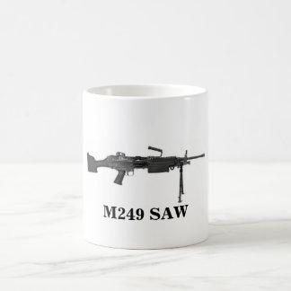 M249 SAW CLASSIC WHITE COFFEE MUG