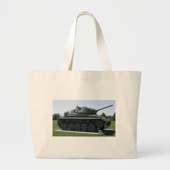 M24 Chaffee Light Tank Large Tote Bag