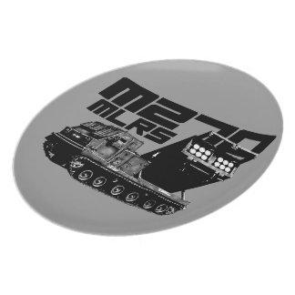 M270 MLRS Melamine Plate